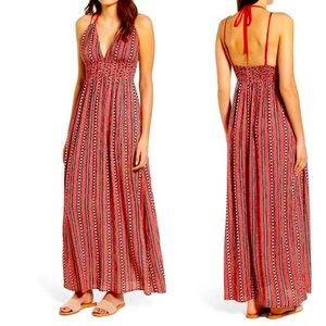 Band of Gypsies Print Halter Maxi Dress!